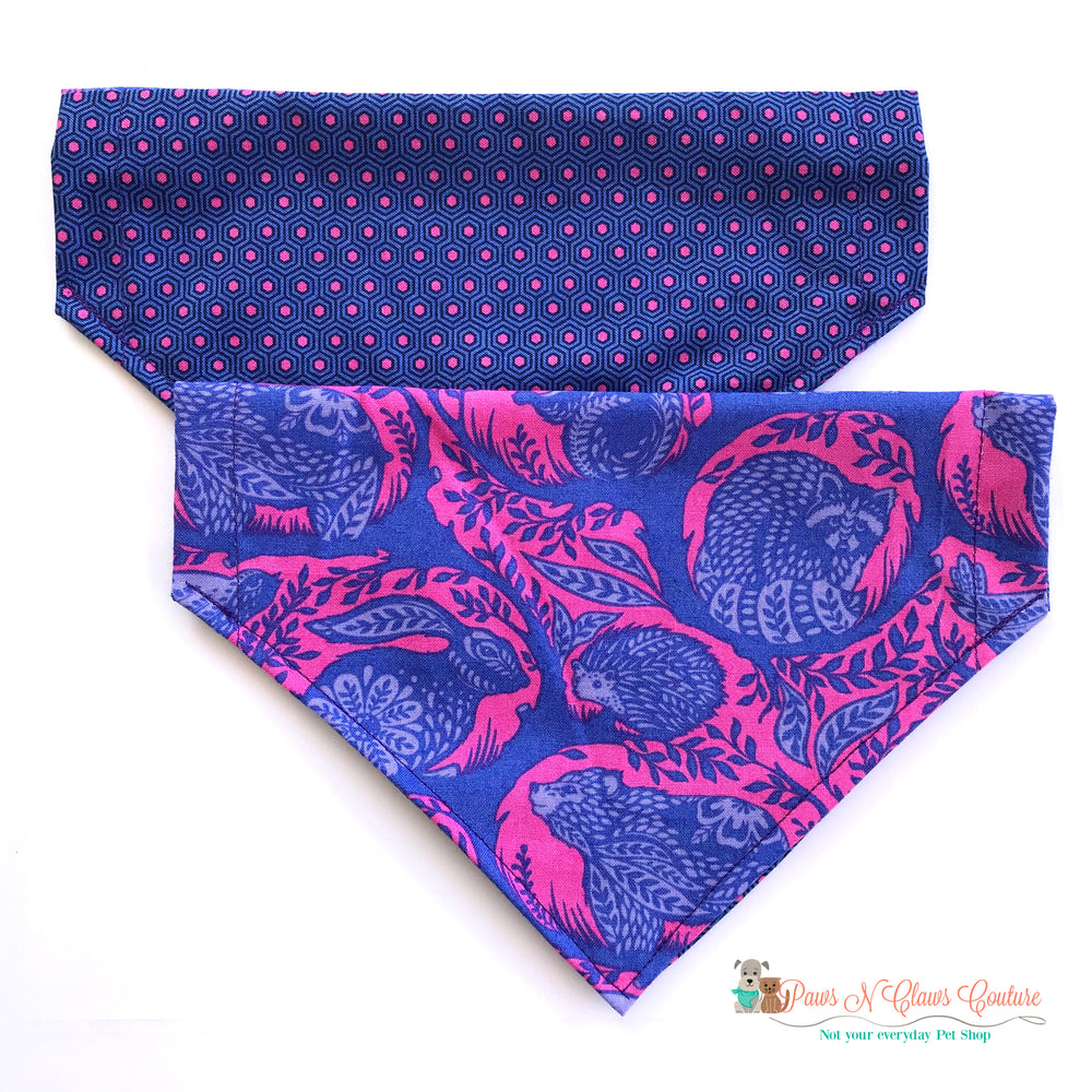 Reversible animal story Bandana - Paws N Claws Couture