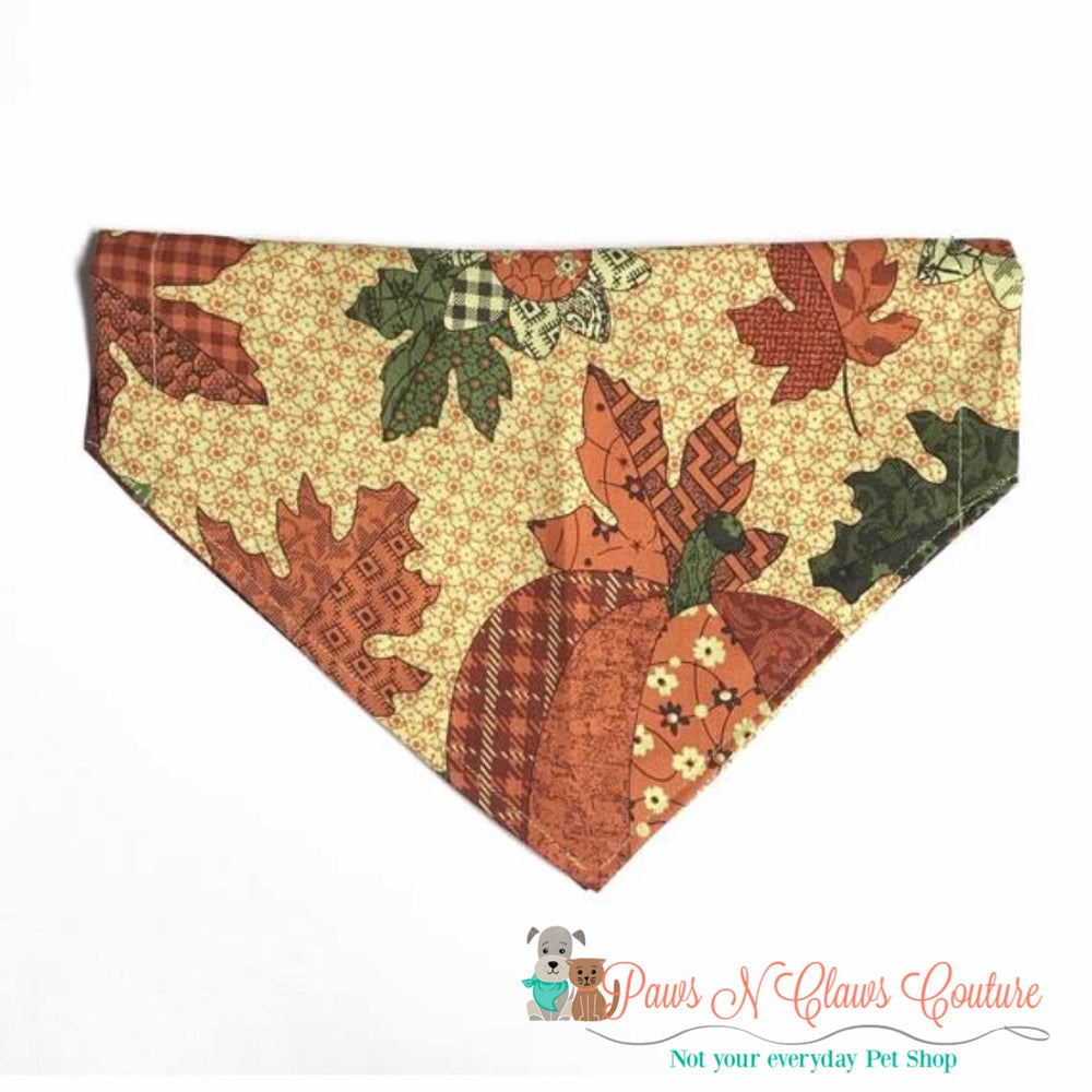 Country pumpkin Bandana - Paws N Claws Couture
