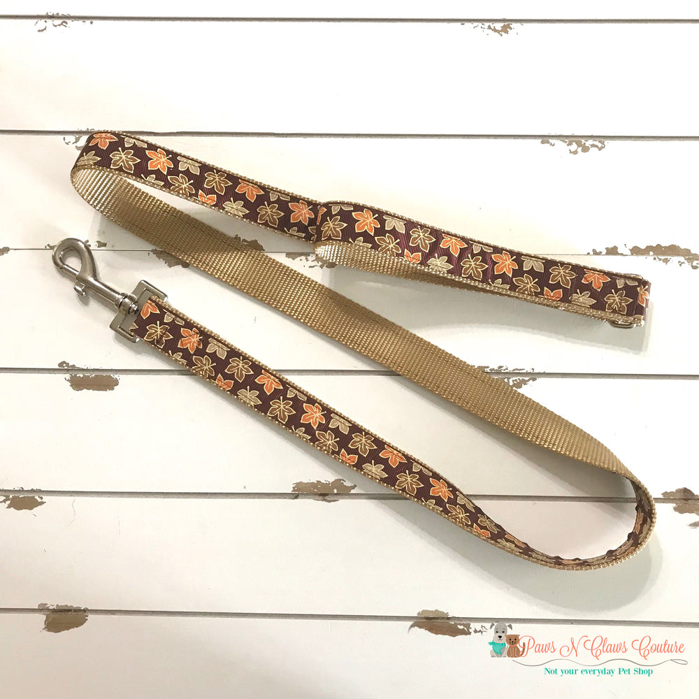 "1"" Glitter leaves Dog Collar, Leash Available - Paws N Claws Couture"