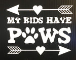 Pet Vinyl Decals - Paws N Claws Couture