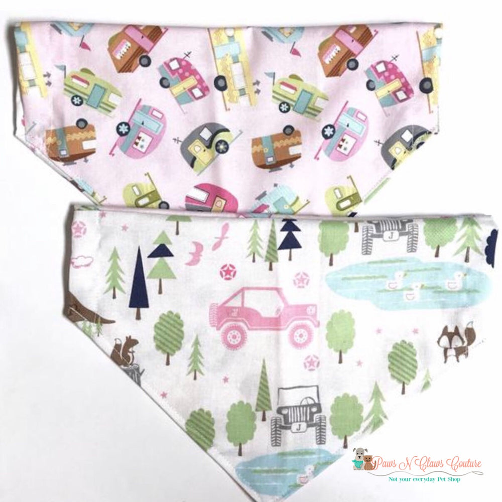 Reversible off roading and camping, pink Bandana