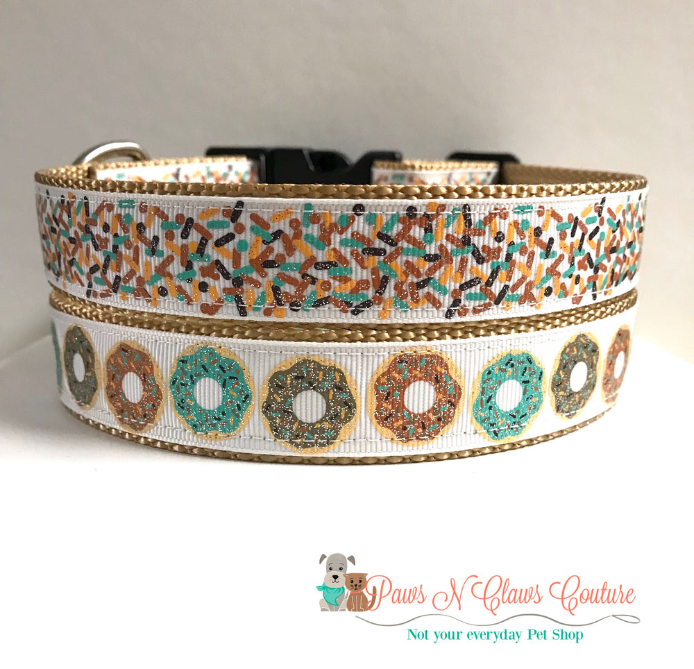 "1"" Donuts or sprinkles Dog Collar - Paws N Claws Couture"