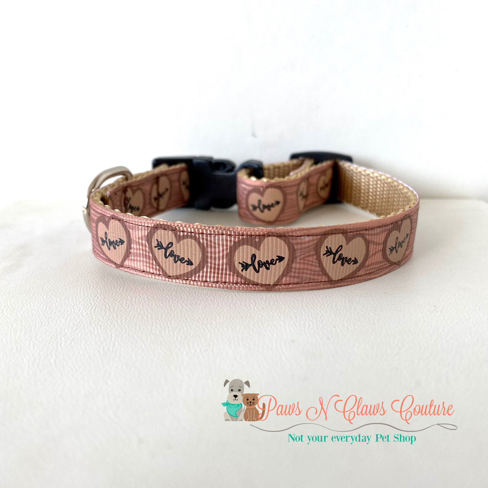 "5/8"" Love Carvings Dog Collar - Paws N Claws Couture"