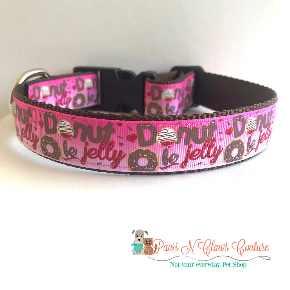 "1"" Donut be Jelly Dog Collar - Paws N Claws Couture"