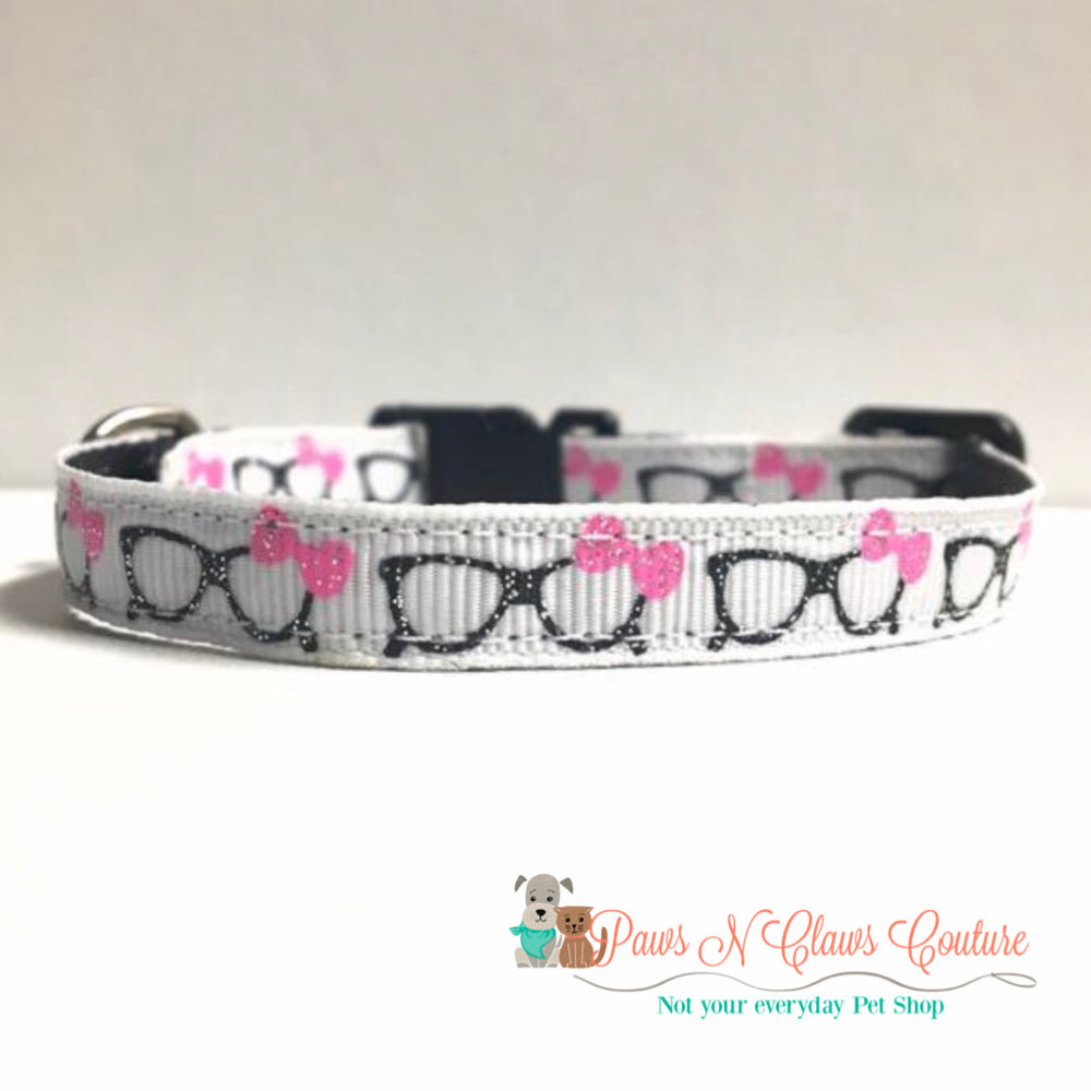 "3/8"" Smarty pants Cat or Small Dog Collar - Paws N Claws Couture"