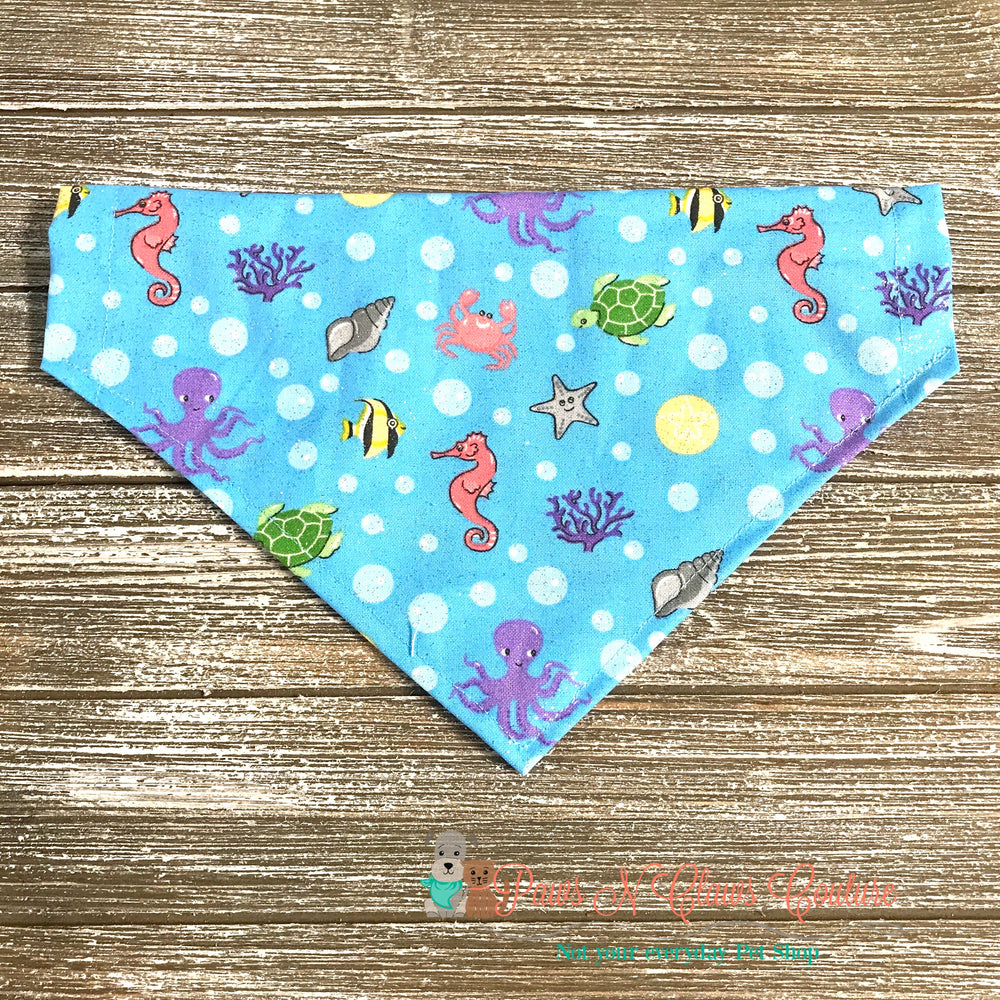 Glitter Sea friends Bandana - Paws N Claws Couture