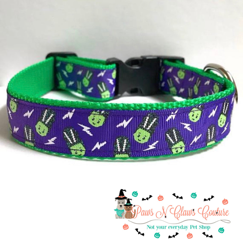 "1"" Little Monsters Dog Collar - Paws N Claws Couture"