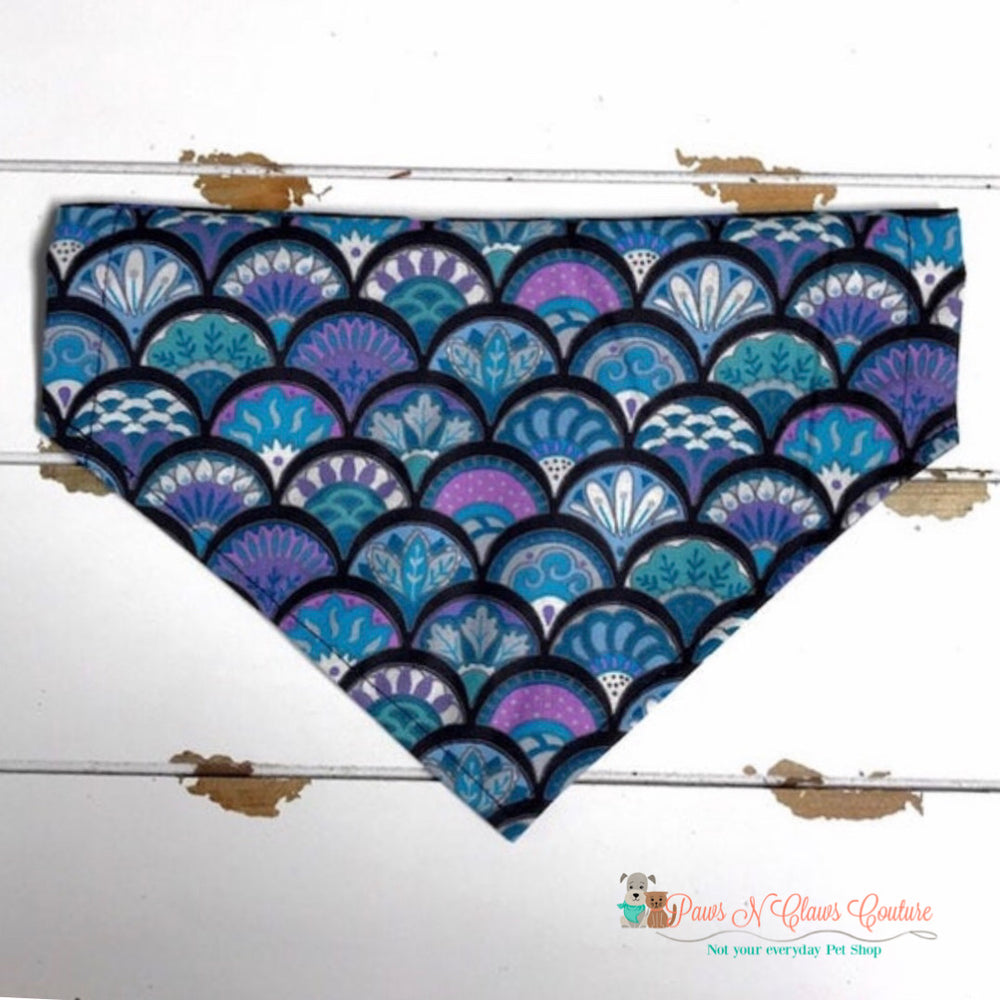 Mermaid scales Bandana - Paws N Claws Couture