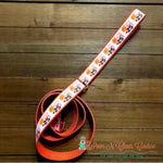 "1"" Pumpkin kisses Dog Collar, Leash Available - Paws N Claws Couture"