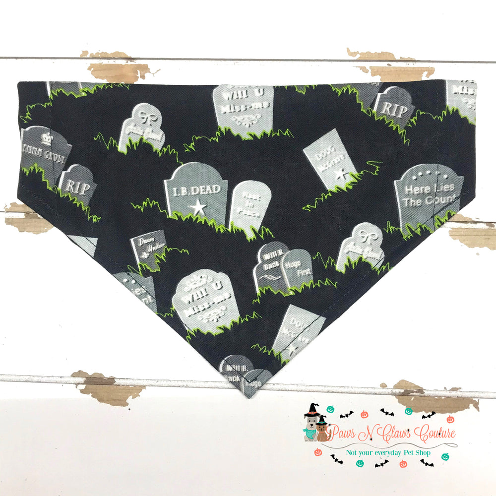 Funny headstones Bandana - Paws N Claws Couture
