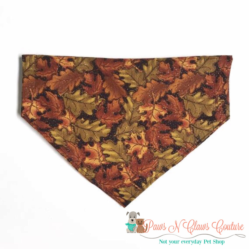 Glitter fall leaves Bandana - Paws N Claws Couture