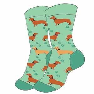 Ladies Wiener Dog Socks