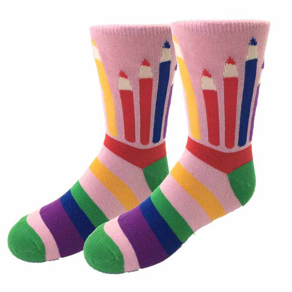 Colored Pencil Kids Socks