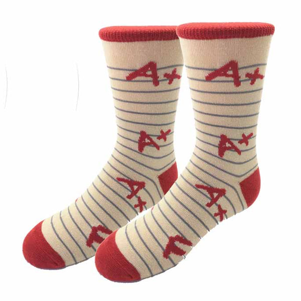 Report Card Kids Socks