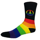 Rainbow Peace Sign Socks
