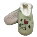 Red Wine Time Slippers