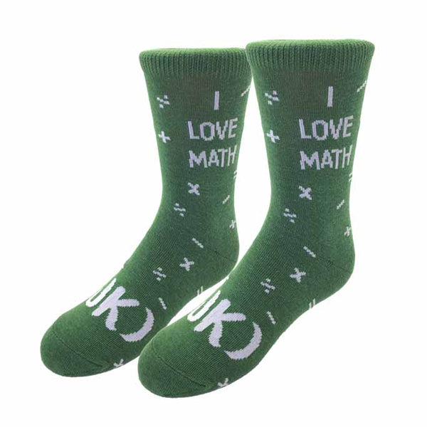 I Love Math Kids Socks