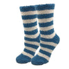 Sky Blue Striped Fuzzy Socks