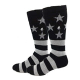 Active Black and White USA Socks