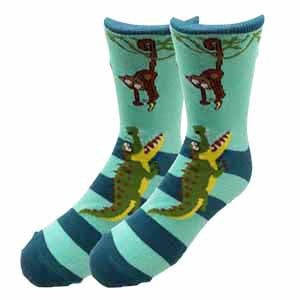 Monkey Alligator Kids Socks