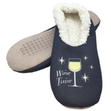 White Wine Time Slippers