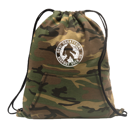 Gone Squatching Camo Fleece Sweatshirt Cinch Pack