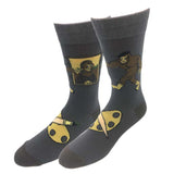 Mona Lisa Bigfoot Socks