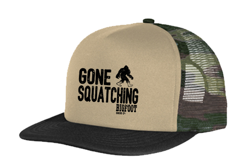 Gone Squatching Camo Snap Back Trucker Cap