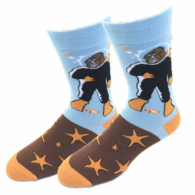 Scuba Bigfoot Socks
