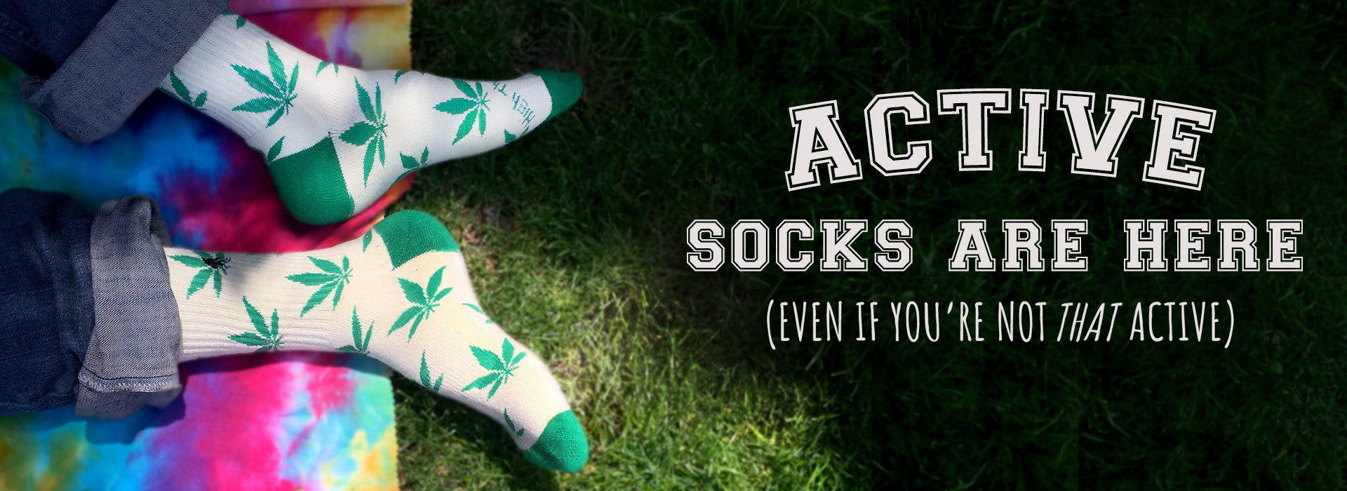 Active High Pot Marijuana Socks