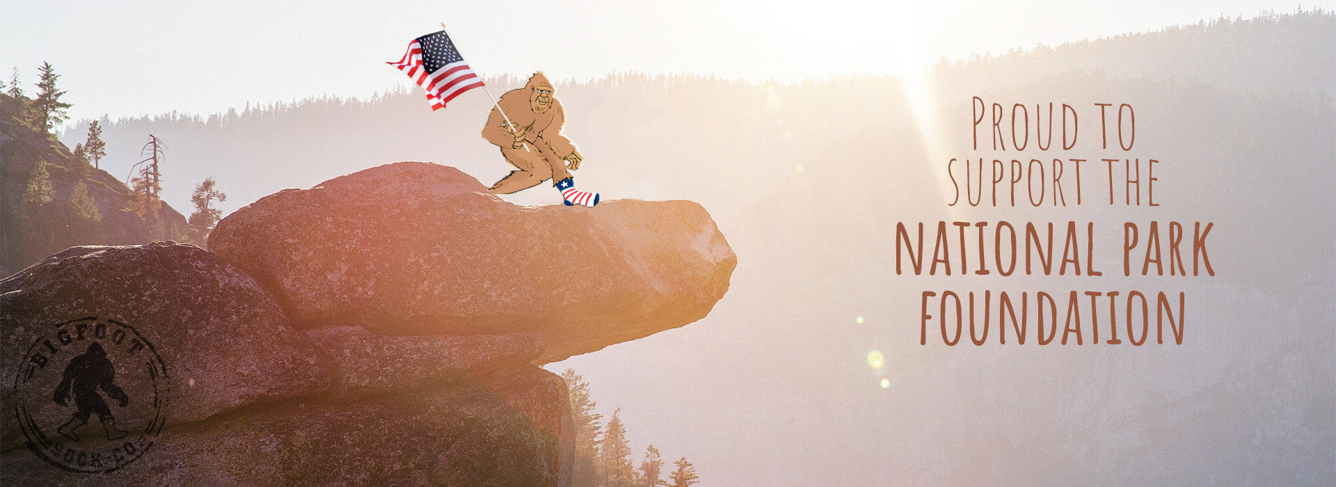 Bigfoot Socks Support National Park Foundation