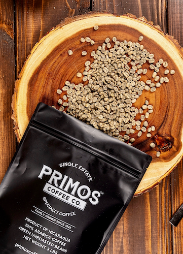 Primos Coffee Company is single estate specialty coffee that has been family grown since 1929. Unroasted green coffee beans are offered in a three pound resealable bag. These arabica beans are fully washed, from the farm's best lots and have a very low number of defects. Perfect for home roasters. All bags ship free.