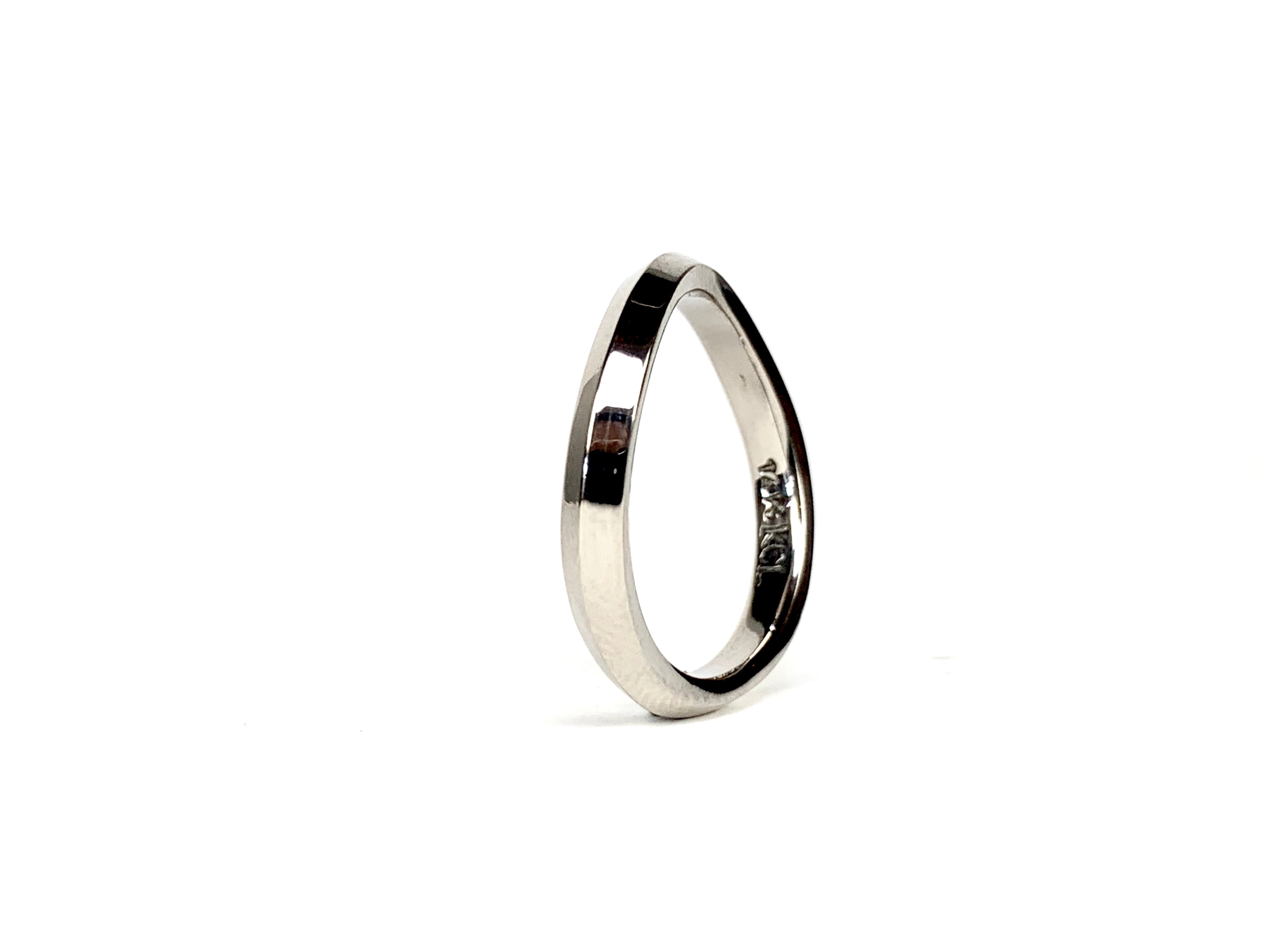 Chané in 14k Palladium white gold Polished finish