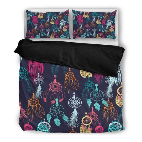 Dream Catcher Bedding Set - Black