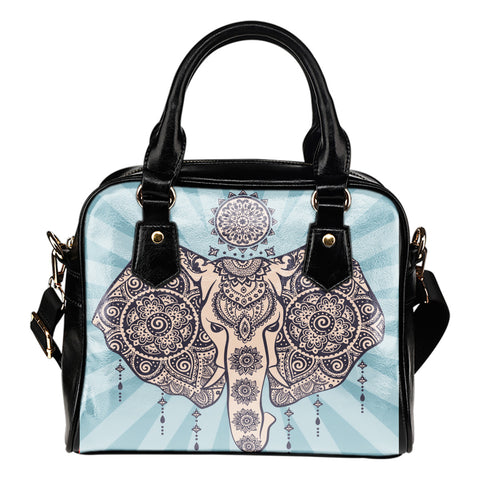 African Elephant Tribal Shoulder Handbag