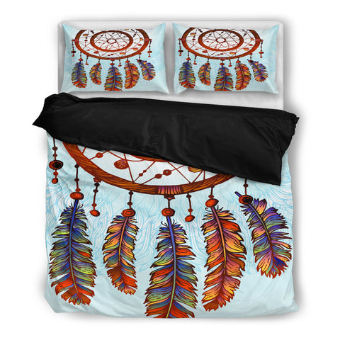 Big Dream Catcher Bedding Set - Black
