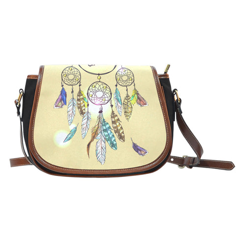 Yellow Dream Catcher Saddle Bag