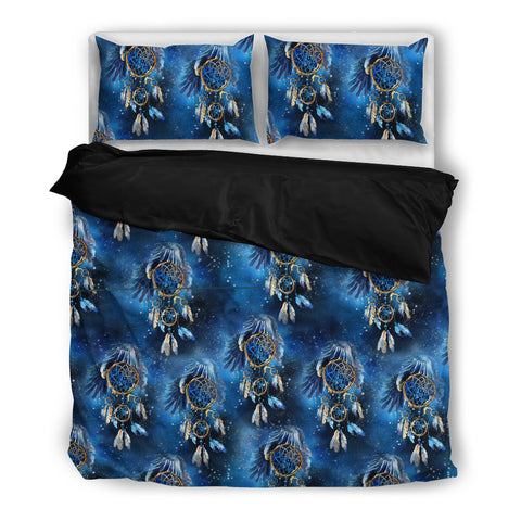 Galaxy Dream Catcher Bedding Set - Black