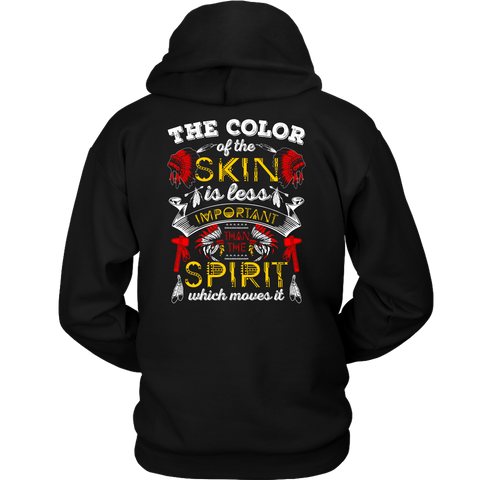 The Color Of The Skin Hoodies - Back Print1