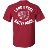 Native Inspired Land Of The Free - Back Print
