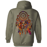 Native Inspired Color Dream Catcher Hoodies - Back Print