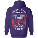 Listen To The Wind Hoodies - Back Print
