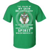 The Color Of Native American Skin - Back Print