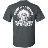 Chief Nature Is My Religion - Back Print
