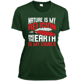 Ladies Red Nature Is My Religion