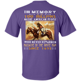 In Memory Of Native American People - Back Print