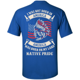 I was not born in American - Back Print