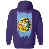 Native Inspired Crow Nation Flag Hoodies - Back Print