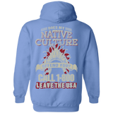 Native Inspired Culture Call 1800 Hoodies - Back Print