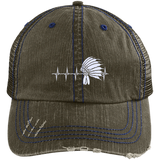 Native Inspired Heart Beating Headdress Cap